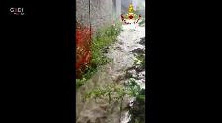 Saltino di Prignano: canale esondato, problemi per alcune abitazioni