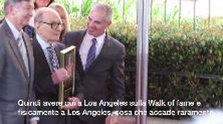 """Ennio Morricone e la stella sulla Walk of Fame. Tarantino: """"Più di Elvis e dei Beatles"""""""