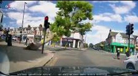 Londra, albero cade sulla strada: due passanti si salvano all'ultimo istante
