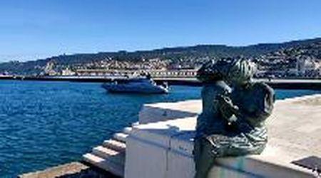 Piazza Unità a Trieste è pronta ad accogliere i due Presidenti