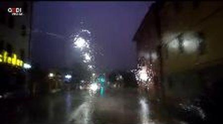 Modena, guidare in mezzo al nubifragio