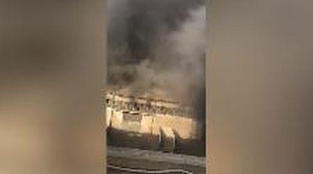 Beirut, l'esplosione ripresa da pochi metri di distanza