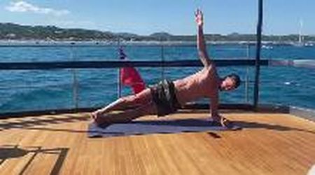 Ibrahimovic è instancabile: ecco come si allena a bordo del suo yacht