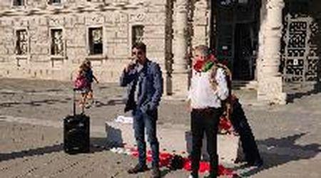 Trieste, davanti alla Prefettura il presidio di Cgil e Anpi-Vzpi in risposta al blitz di Casa Pound