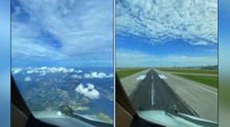 Il triste atterraggio in timelapse del Boeing 777 nell'aeroporto di Singapore vuoto