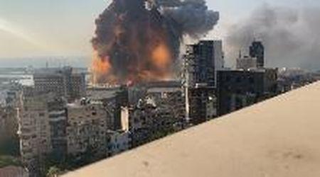 Beirut, nel video inedito l'esplosione in slow motion