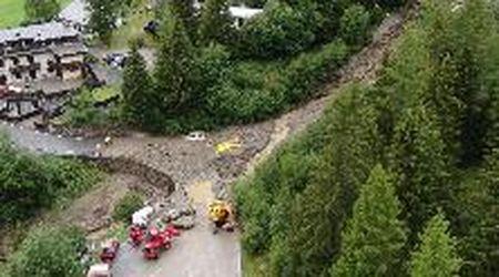 Frana a Chiesa in Valmalenco, la colata di fango: le immagini dal drone