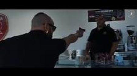 La presentazione choc del nuovo difensore della Reggina: il video finisce con un omicidio