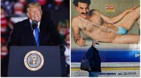 """Trump contro Borat: """"È un impostore schifoso"""". Il presidente Usa attacca l'ultimo film di Sacha Baron Cohen"""