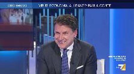 """Gruber a Conte: """"Ha mai chiamato Mario Draghi?"""". E il premier: """"Per dirgli se vuole fare il presidente?"""""""