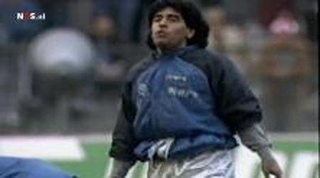 Maradona, quell'indimenticabile riscaldamento contro il Bayern