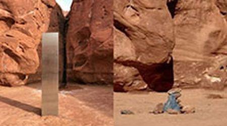 Il misterioso monolite dello Utah è scomparso: al suo posto c'è una piramide di metallo