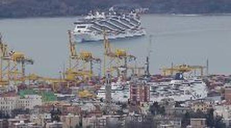 """Il ritorno della Msc Seaside a Trieste: sarà """"ospitata"""" per lavori nel bacino San Marco"""