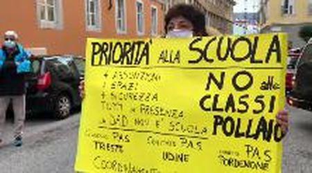 A Trieste la protesta dei Cobas scuola contro le classi-pollaio