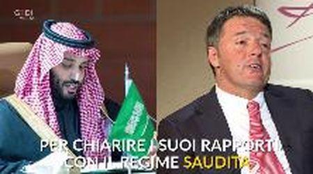 Arabia Saudita, Renzi si intervista da solo: l'ironia sui social