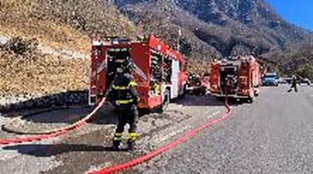 Incendio in val di Zoldo