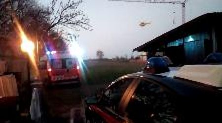 Carpi, incidente sul lavoro: l'elisoccorso lascia il cantiere