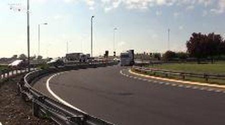 Modena-Carpi: inaugurato sulla Romana sud a S. Pancrazio l'allargamento della strada
