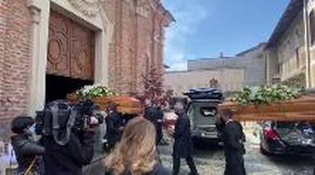 Rivarolo, i funerali dei coniugi Dighera in San Michele