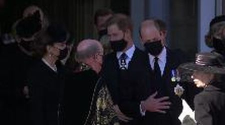 I funerali di Filippo: Harry, William e Kate di nuovo insieme