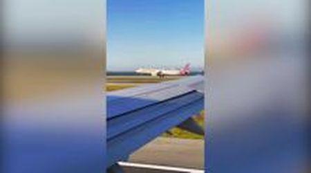 San Francisco, la sfida tra i due aerei carichi di passeggeri