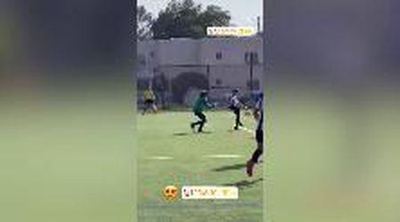 Calcio, un gol alla Del Piero: il figlio ha i piedi del padre