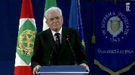 """Mattarella a Pisa: """"Addolorano gli atti di violenza che vogliono ostacolare la ripresa del Paese"""""""