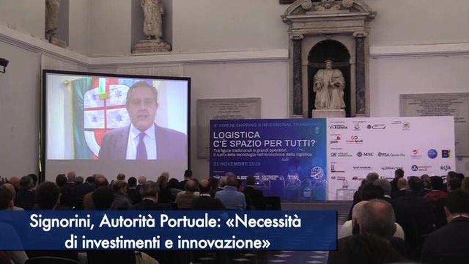 Signorini, Autorità Portuale: «Necessità di investimenti e innovazione»