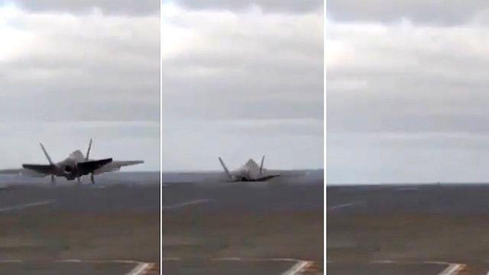 Disastro sfiorato sulla portaerei, F-35 rischia di finire in mare nel test: così il pilota evita la morte
