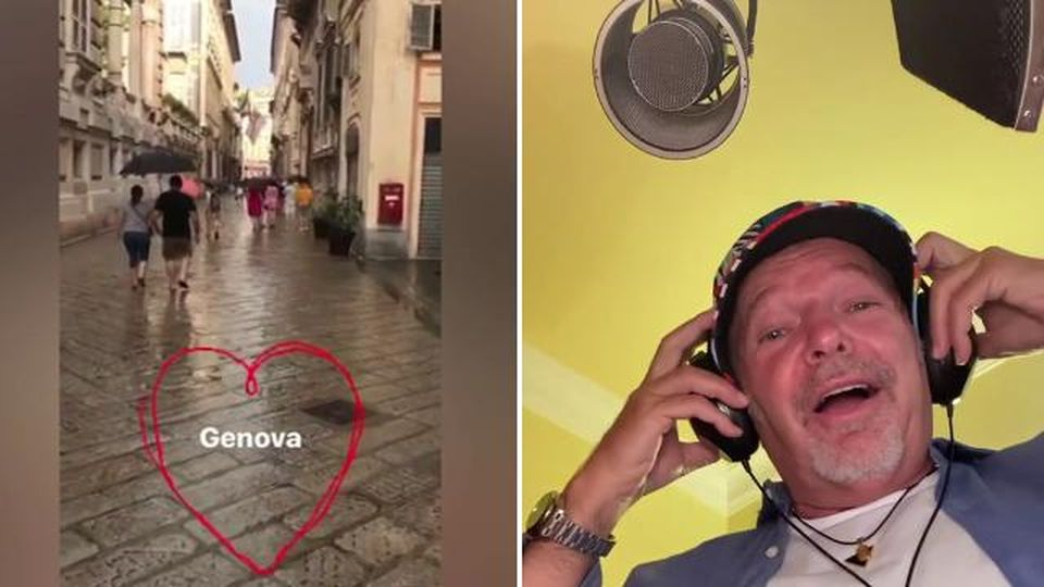 """Ponte Genova, Vasco e quel verso di """"Creuza da ma"""" cantato per le famiglie delle vittime"""