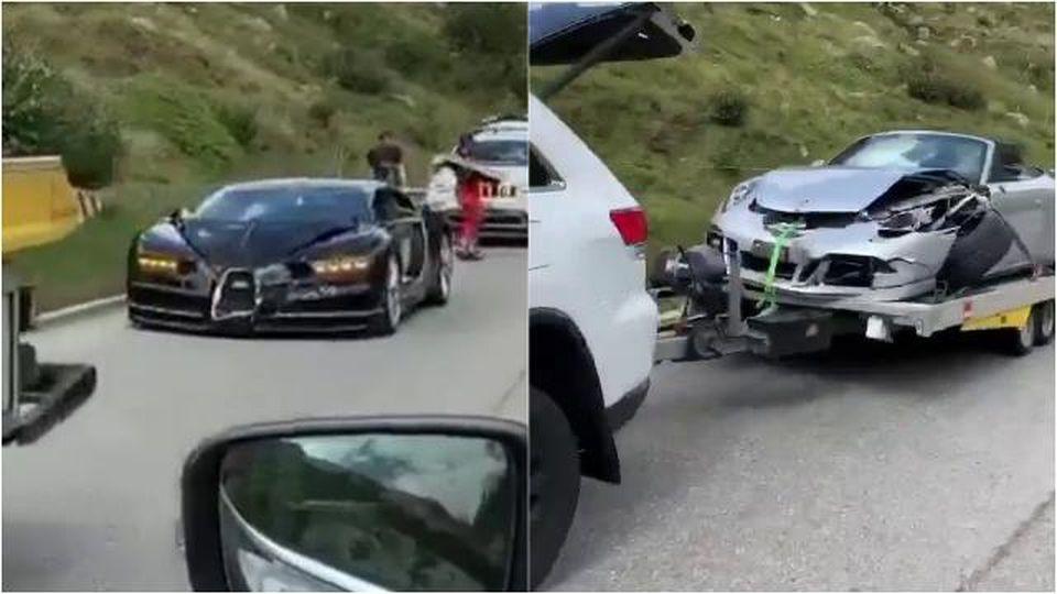 Incidente da 3 milioni di euro:  una Porsche 911 GTS si schianta contro una Bugatti Chiron sul passo del San Gottardo in Svizzera