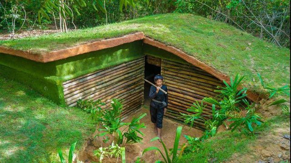 Così una donna ha costruito un'intera casa sotterranea da zero usando solo semplici strumenti