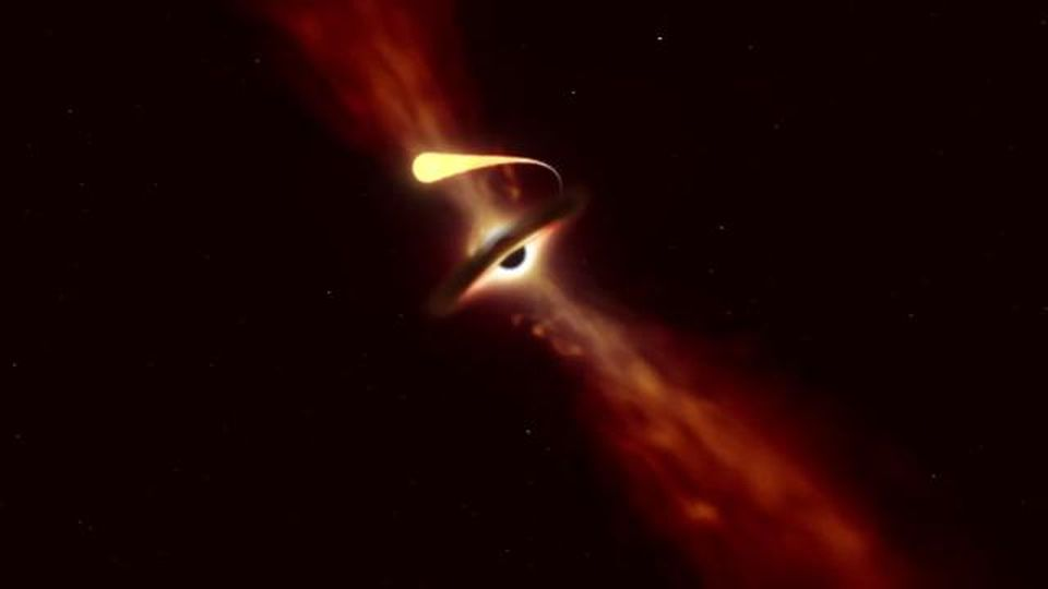 Spazio, le sensazionali immagini di come muore un stella divorata da un buco nero