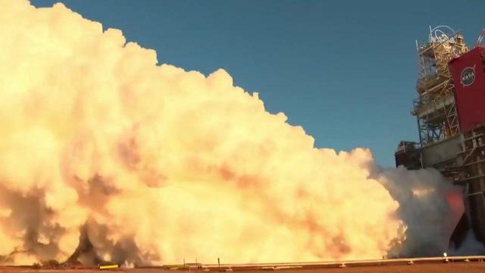 Fallisce il test il razzo più potente mai costruito dalla Nasa e che dovrà portare l'uomo di nuovo sulla Luna