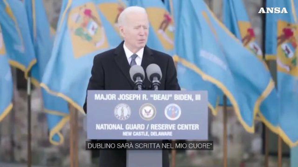 Usa, Biden si commuove nell'ultimo discorso prima del giuramento