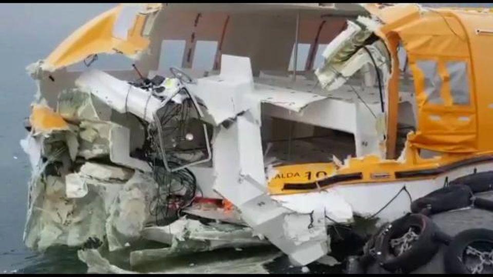 Incidente in porto a Savona: i danni alla nave Costa Smeralda e alla gru in banchina