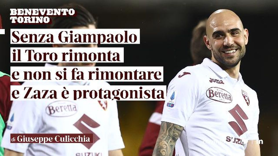 """Giuseppe Culicchia: """"Senza Giampaolo il Toro rimonta e non viene rimontato e addirittura Zaza fa una doppietta"""""""