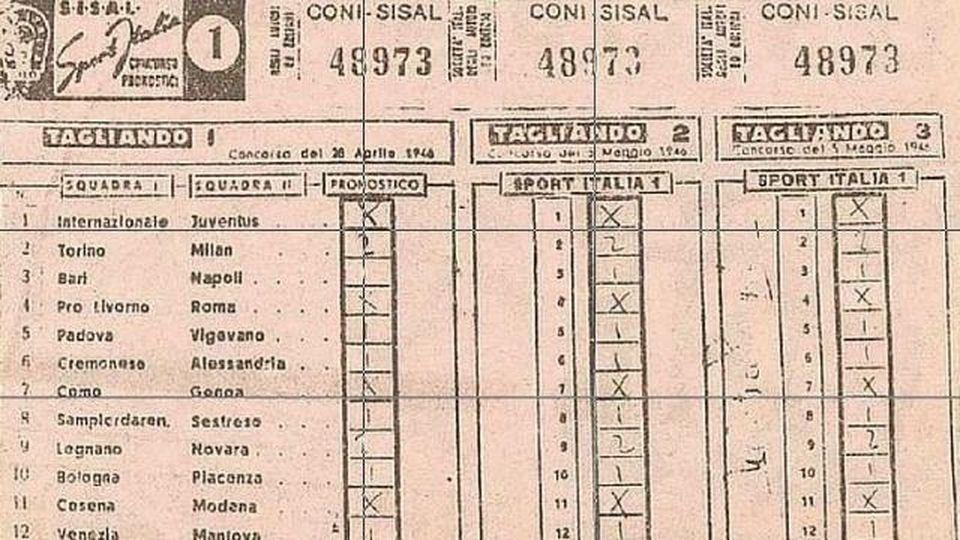 """Totocalcio: 75 anni fa nasceva il sogno di """"fare 13"""""""
