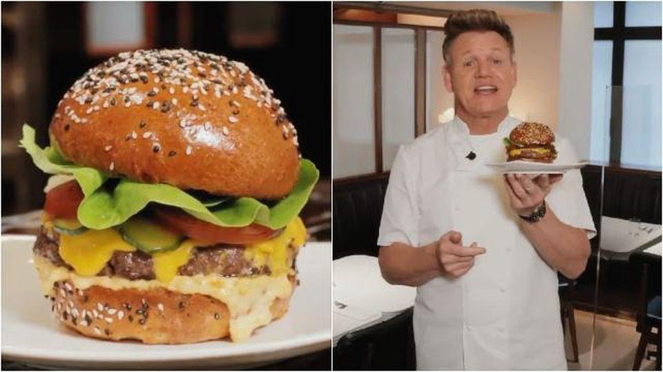 """Gordon Ramsay, il nuovo hamburger è un flop per i social: """"Bello, ma come si mangia?"""