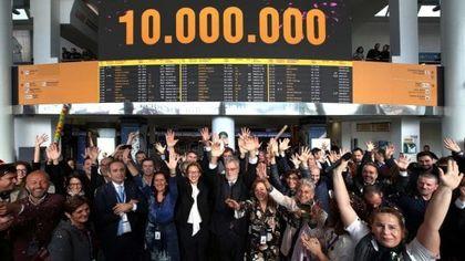 Capodichino: l'aeroporto festeggia i dieci milioni di passeggeri
