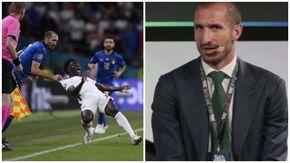 Giorgio Chiellini rivive il fallo memorabile su Saka nella finale di Euro 2020