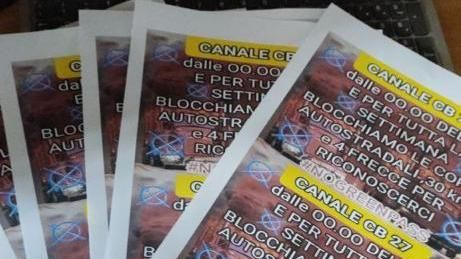 The leaflets inviting the transporters to protest
