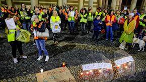 In piazza Duomo la manifestazione di solidarietà per i portuali di Trieste